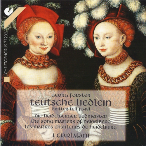 Georg Forster - Teutsche Liedlein CD - Cover